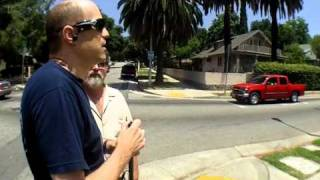 Blind man performs street crossing using visual-to-auditory sensory substitution