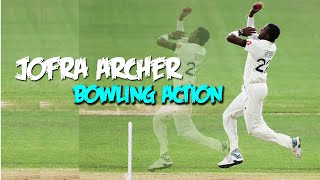 Jofra Archer Bowling Action in Slow Motion   England fast bowler arche