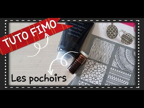 tuto fimo comment utiliser des pochoirs sur la p te fimo youtube. Black Bedroom Furniture Sets. Home Design Ideas