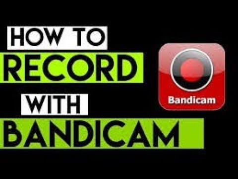 How to record With Bandicam (THE BEST SOFTWARE FOR RECORDING)