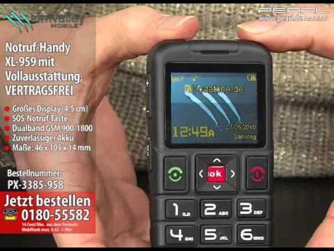 simvalley MOBILE Premium-Notruf-Handy XL-959 mit Dual-SIM VERTRAGSFREI