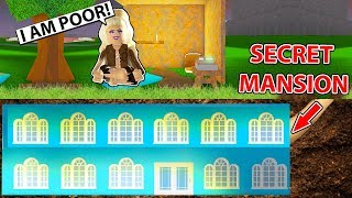 She Pretended To Be Homeless But Secretly Has A Huge Mansion! (Roblox)