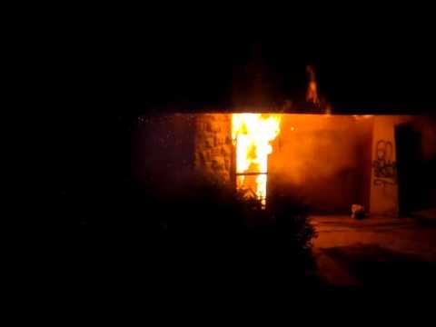 Incendio en la Casa del Deporte