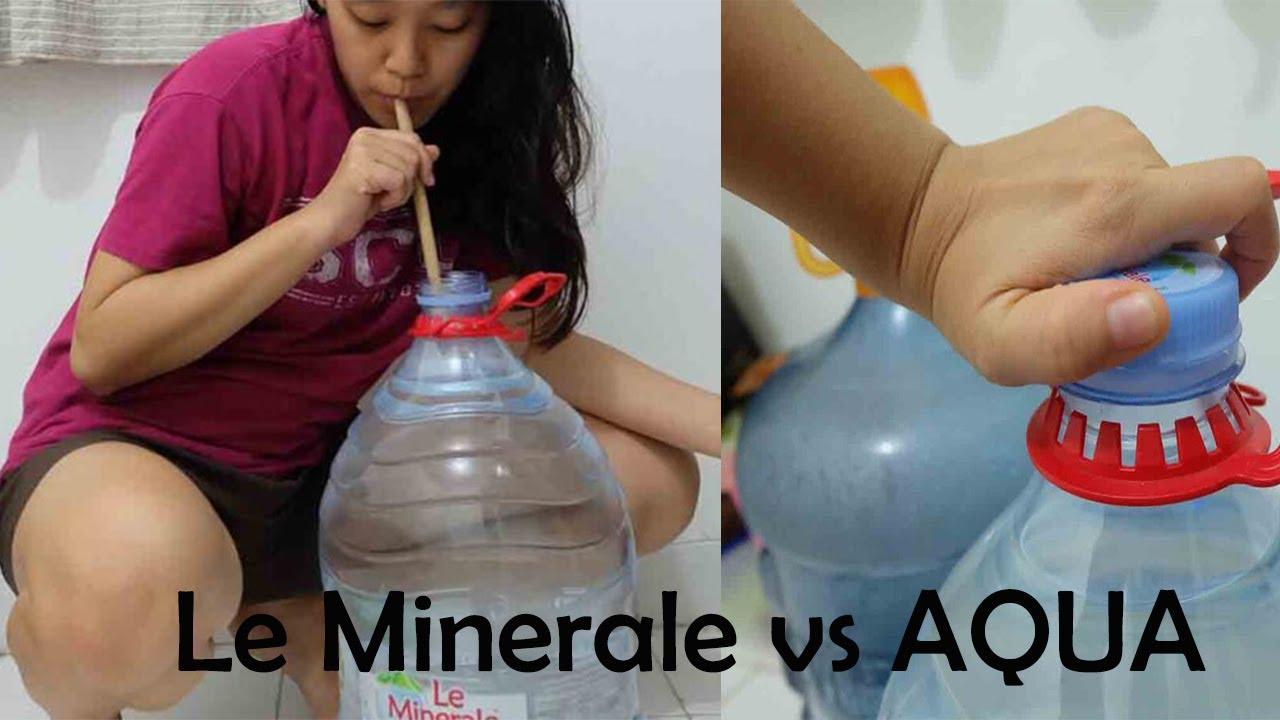 Le Minerale Galon Mudah Dibuka Dibanding Aqua Youtube