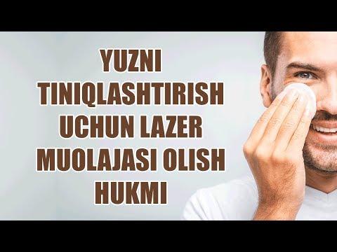 Yuzni tiniqlashtirish uchun lazer muolajasi olish hukmi (Shayx Sodiq Samarqandiy)