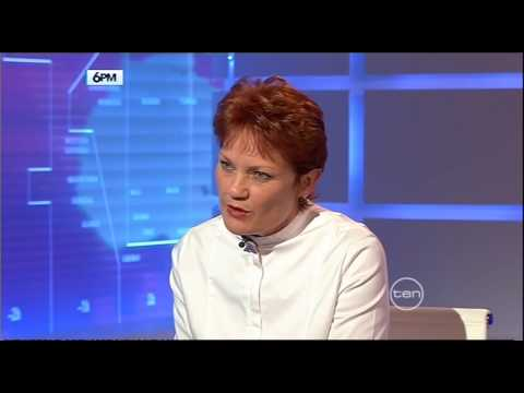 Pauline Hanson on 6pm with George Negus