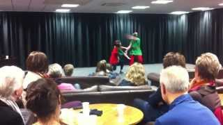Deck the Rooftops Comedy Dance Duet By Lara Sas And Sophie Hatton