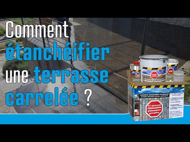 How To Waterproof A Tiled Terrace Youtube