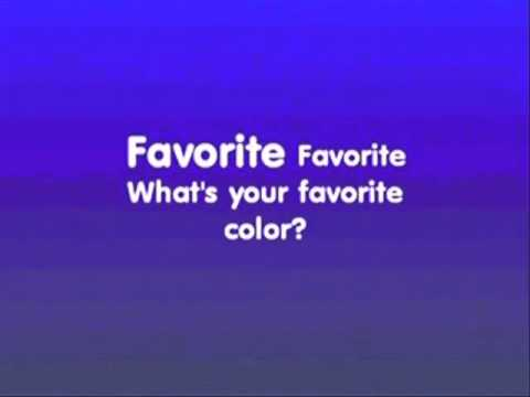 "Fun English Colors:  kids English karaoke song - ""What's your favorite color?"""