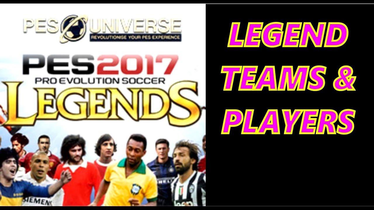 PES 2017 Classic Legend Teams - PES UNIVERSE OPTION FILE