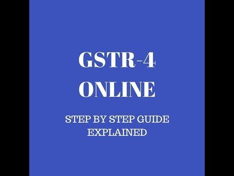 HOW TO FILE GSTR 4 (COMPOSITION DEALER) ONLINE?