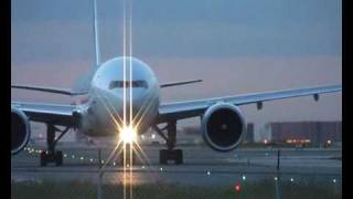Air Canada Boeing 777-300/ER late evening take-off Toronto Pearson Airport