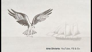 Cómo destacar la figura principal de tus dibujos - Aguila y velero