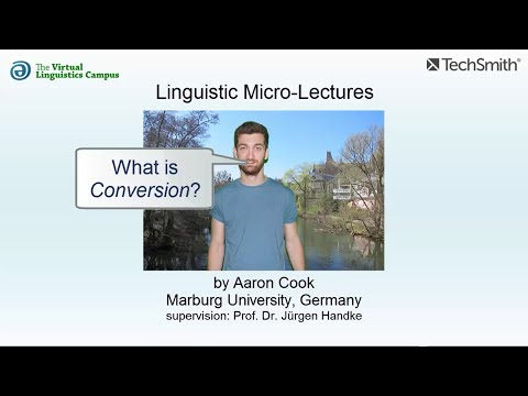Linguistic Micro-Lectures: Conversion