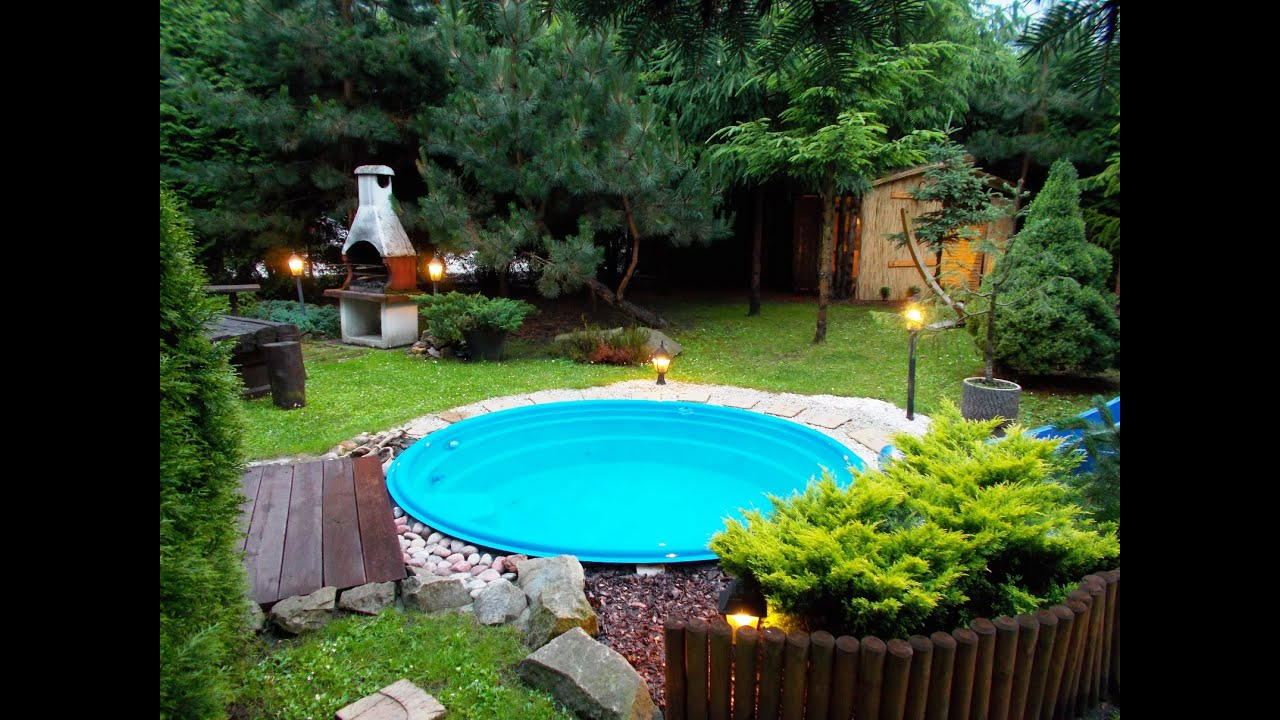 Garden hut seen from the pool - YouTube