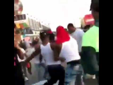 Coney island Easter day 4/16/17 jumping a guy.