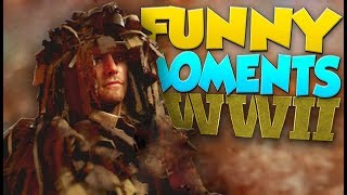 COD WW2 Funny Moments - M1 Garand, Dolphin Diving, Body Launches!