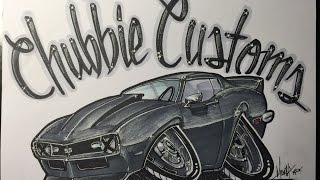 How to Draw a 1968 Camaro SS - TIME LAPSE