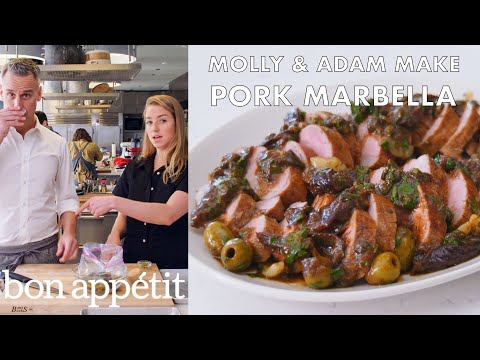 Molly and Adam Make Pork Marbella | From the Test Kitchen | Bon Apptit
