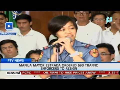 Manila Mayor Estrada ordered 690 traffic enforcers to resign