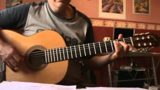 Le Plat Pays (Jacques Brel)- tutorial guitare Accords (cover)