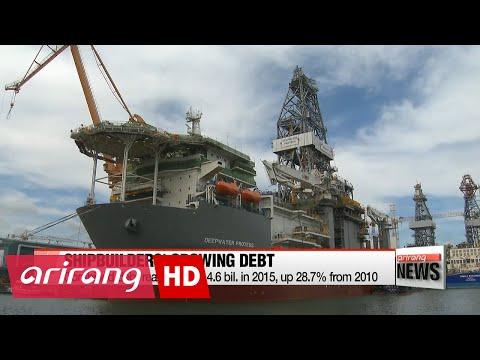 Korean shipbuilders' overseas units suffering under massive debt: Data