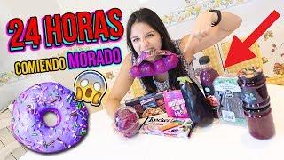 24 horas comiendo MORADO | All Day Eating Purple Food Challenge | RETO NATALIA