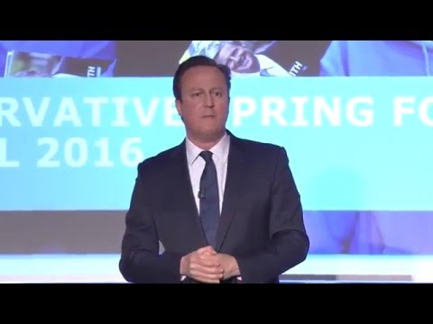 David Cameron: Speech to Conservative Spring Forum 2016