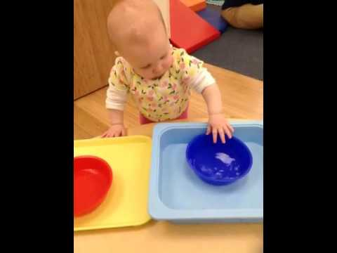 Infant Sensorial Warm Cold Activity At Apple Montessori Youtube