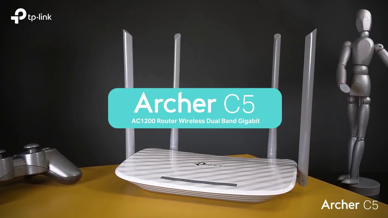 Router Wireless TP-LINK Archer C5 AC1200, Dual-Band 300 + 867Mbps