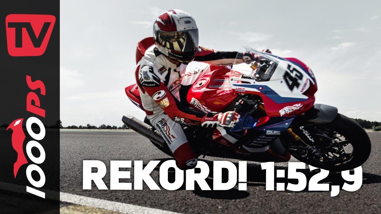 Neuer Rekord am Pannonia Ring! Martin Bauer legt mit Honda CBR1000 RR-R Fireblade Fabelzeit vor