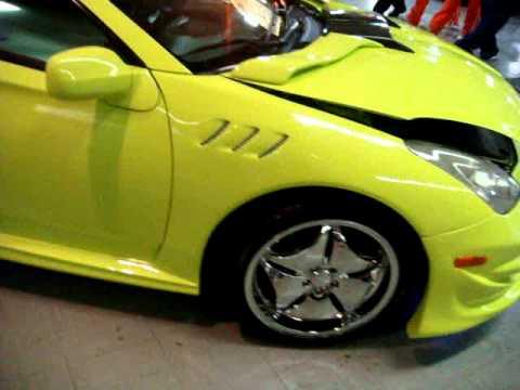 Toyota Celica  Lamborghini Lime Green