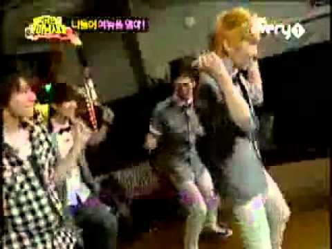 Key SHINee (with Donghae Sungmin Onew Jonghyun) dance Sorry-sorry by Super Junior