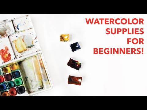 Watercolor painting supplies for beginners paige poppe for Watercolor supplies for beginners