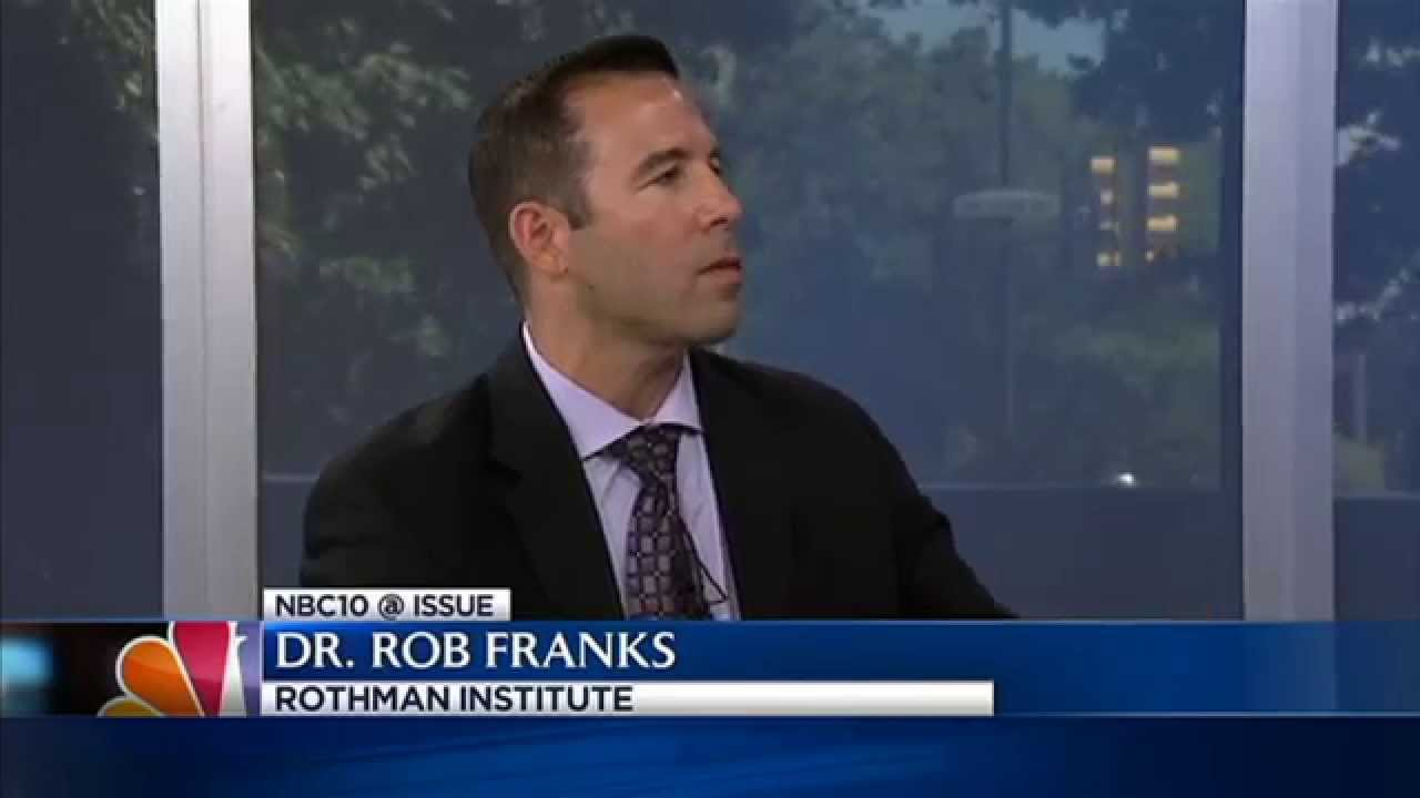 Rothman Institute's Dr  Franks appears on NBC10's @Issue to discuss  concussions