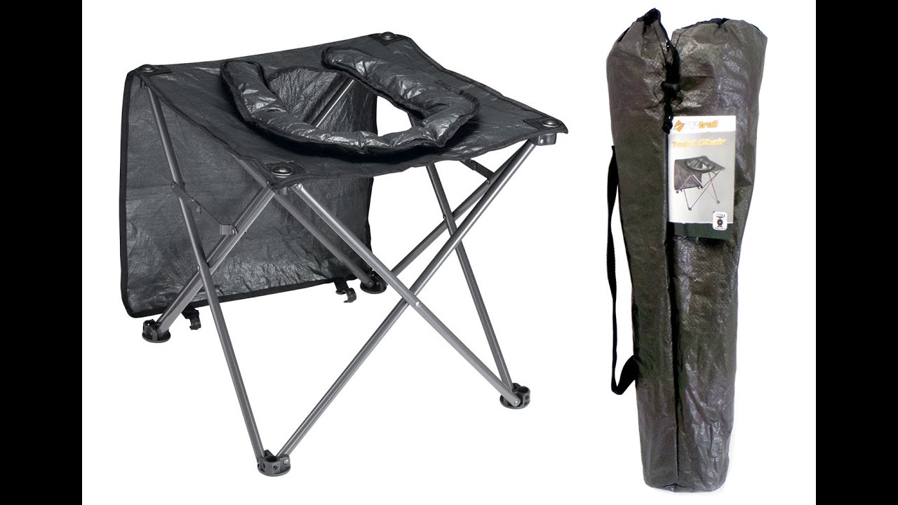 574fadbc9 OZTrail Portable Folding Camping Toilet Chair - YouTube