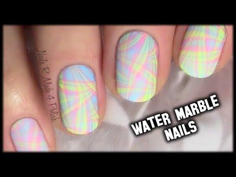 Nageldesign Pastell Water Marble Nail Art Design Tutorial Youtube