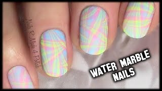 Nageldesign Pastell Water Marble / Nail Art Design Tutorial