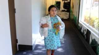 Walking on her own after her appendix burst