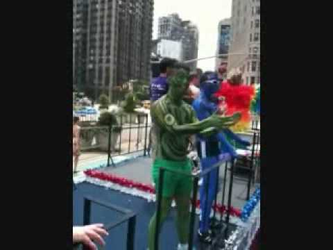 NYC Pride 2009 the Rainbow Men