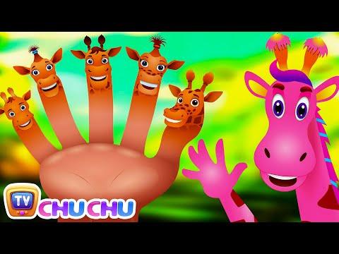 Finger Family Giraffe | ChuChu TV Animal Finger Family Nursery Rhymes Songs For Children