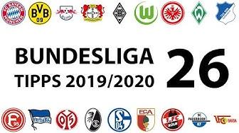 Bundesligatipps 26.Spieltag 2019/2020