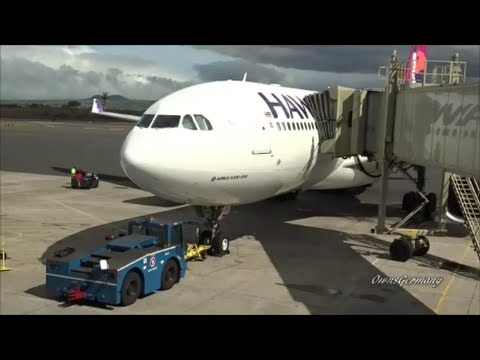 Hawaiian Airlines A330 Economy Seat Flight Experience From Maui to Seattle