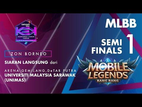 MLBB CELCOM #XPAXKEK SEM 2 Semi Final 1 Zon Borneo- LEXUS [UMS] vs Godz Genesys [UMSKAL]