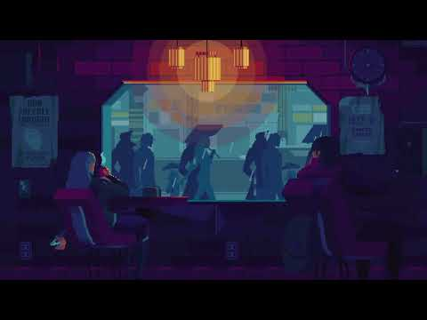 White noise, rain, city ambiance - Cyberpunk cityscape (1 hour)