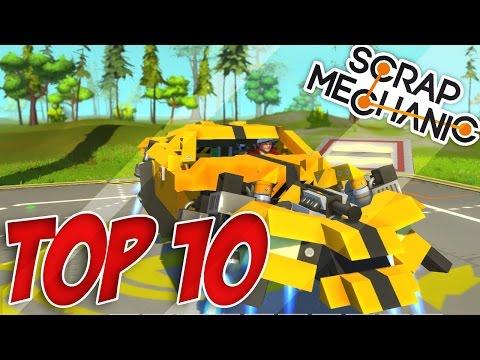 TOP 10 VÉHICULES SCRAP MECHANIC !! #9