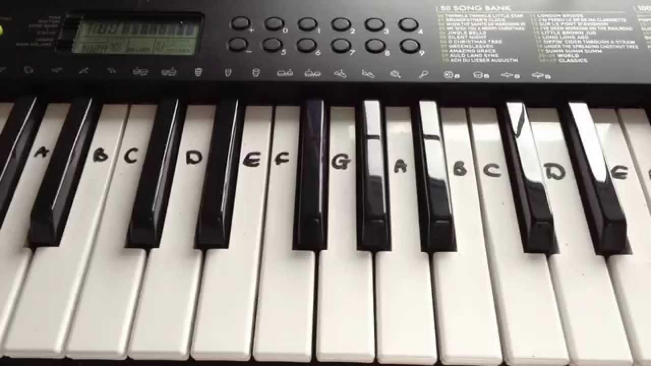 Baa Baa Black Sheep Easy Keyboard Tutorial With Notes Right Hand