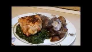 Roasted Thighs & Mushrooms