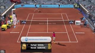 Tennis Elbow 2013 Gameplay Nadal vs Djokovic 2017