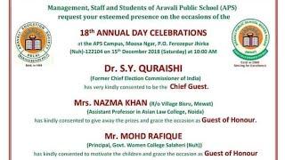 ARAVALI PUBLIC SCHOOL   18th ANNUALFUNCTION   bend masters